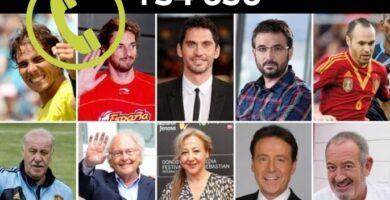 Numeros de famosos